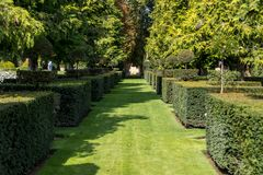 The picturesque Jardins du Manoir d Eyrignac in Dordogne. royalty free stock images