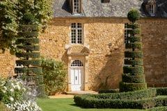 The picturesque Jardins du Manoir d Eyrignac in Dordogne. France royalty free stock photography