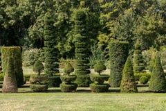 The picturesque Jardins du Manoir d Eyrignac in Dordogne. France royalty free stock photo