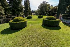 The picturesque Jardins du Manoir d Eyrignac in Dordogne. royalty free stock photos