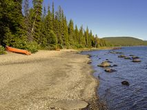 Picturesque lake and forest Stock Photos