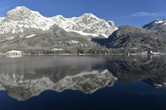 Lake Grundlsee in Styria, Austria Royalty Free Stock Images