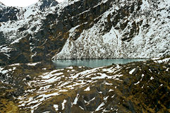 Picturesque lake in Himalayas Stock Photo
