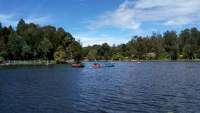Picturesque lake. Kodaikanal lake in Tamilnadu, India stock photo