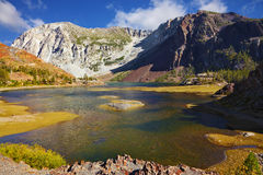 Picturesque lake on pass Tioga Royalty Free Stock Photography