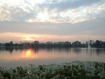 Picturesque lake at sunset Stock Photography