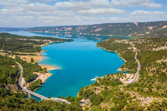 Picturesque lake with turquoise water Royalty Free Stock Photo