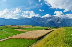 Picturesque landscape of Austrian Alpine valley Stock Photography