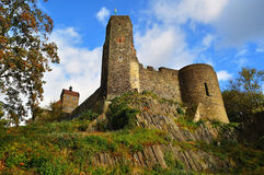 Picturesque landscape with Burg Stolpen. Germany Stock Photo