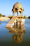 Picturesque landscape with cenotaph. Jaisalmer Royalty Free Stock Photography