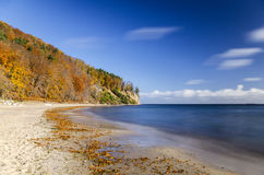 Picturesque landscape of cliff in gdynia orlowo on baltic sea in Poland Royalty Free Stock Photo