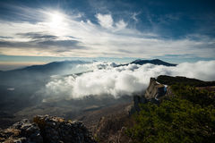 Picturesque landscape from Demerdzhi mountain Stock Photography