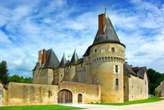Picturesque landscape with France castle Royalty Free Stock Photography