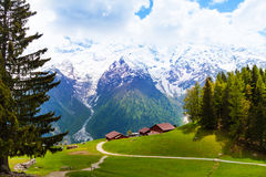Picturesque landscape with mountains, Mont Blanc Royalty Free Stock Photography
