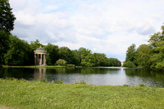 Picturesque landscape in park. Landscape in the nymphenburg park in munich Royalty Free Stock Image