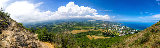 Picturesque landscape of Partenit, Crimea Royalty Free Stock Images