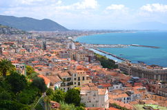 Picturesque landscape of salerno in campania region, italy Royalty Free Stock Photo