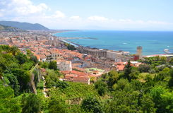Picturesque landscape of salerno in campania region, italy Royalty Free Stock Photos