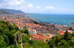 Picturesque landscape of salerno in campania region, italy Stock Images