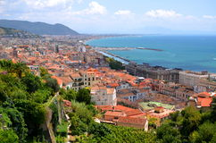 Picturesque landscape of salerno in campania region, italy Royalty Free Stock Image