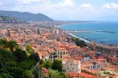 Picturesque landscape of salerno in campania region, italy Royalty Free Stock Photography