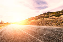 Picturesque landscape scene road Royalty Free Stock Photo