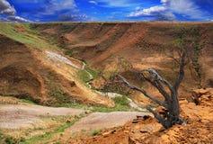 Picturesque landscape slopes plateau Ustyurt Stock Photo