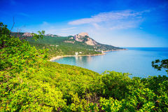 Picturesque landscape with views of mount Ilyas-Kaya . Crimea , Royalty Free Stock Photography