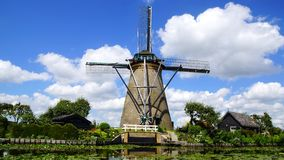 Picturesque landscape with windmills. Kinderdijk Stock Photo