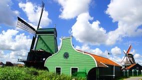Picturesque landscape with windmills in Zaandijk Royalty Free Stock Image