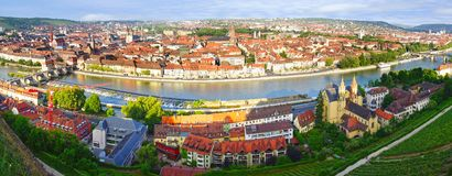 Picturesque landscape with Wurzburg, Germany Royalty Free Stock Images