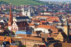 Picturesque landscape with Wurzburg, Germany Royalty Free Stock Photo