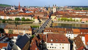Picturesque landscape with Wurzburg, Germany Royalty Free Stock Photography