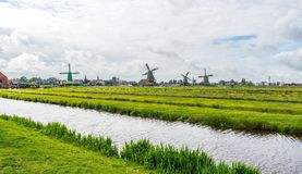 Picturesque landscape of Zaanse Schans royalty free stock images