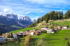 The picturesque landscapes of the Dolomites area Stock Image
