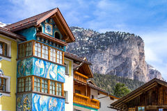 The picturesque landscapes of the Dolomites area royalty free stock image