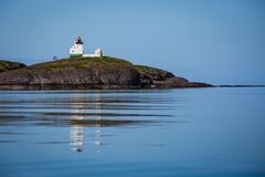Picturesque lighthouse in Norway Royalty Free Stock Images