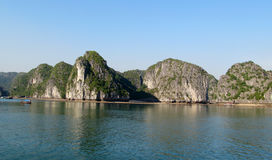 Picturesque limestone island in the ocean royalty free stock image
