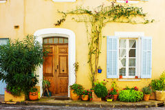 Picturesque Little Village in Provence Stock Photos