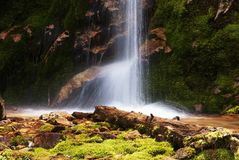 Picturesque little waterfall Royalty Free Stock Photo