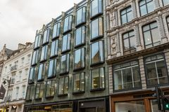 Picturesque London buildings in late October. A mix of old and new royalty free stock images