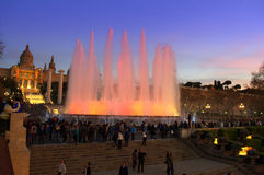 Picturesque Magic Fountains,Barcelona Royalty Free Stock Images