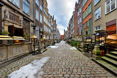 Picturesque Mariacka Street in the Old Town Stock Photo