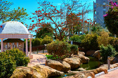 Picturesque Marina d'Or garden Stock Photography