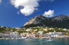 Picturesque Marina Grande on Capri island, Italy Royalty Free Stock Photos