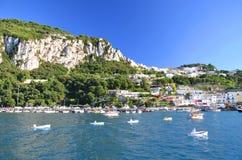 Picturesque Marina Grande on Capri island, Italy Stock Images