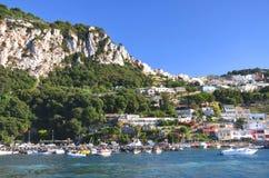 Picturesque Marina Grande on Capri island, Italy Royalty Free Stock Photos
