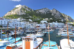 Picturesque Marina Grande on Capri island, Italy Royalty Free Stock Photography