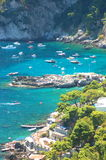Picturesque Marina Piccola on Capri island, Italy Stock Photography