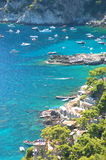 Picturesque Marina Piccola on Capri island, Italy Stock Images
